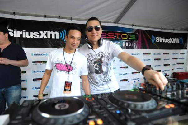 DJ Tiesto and Laidback Luke